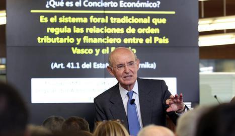 El exconsejero de Economía de Euskadi de 1980 a 1984, Pedro Luis Uriarte. EFE